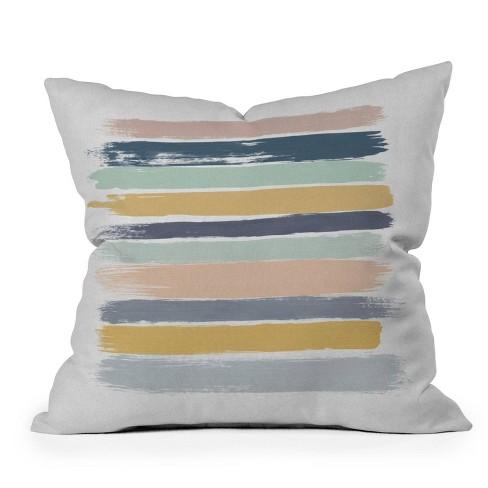 16 X16 Orara Studio Pastel Striped Square Throw Pillow Deny Designs Target