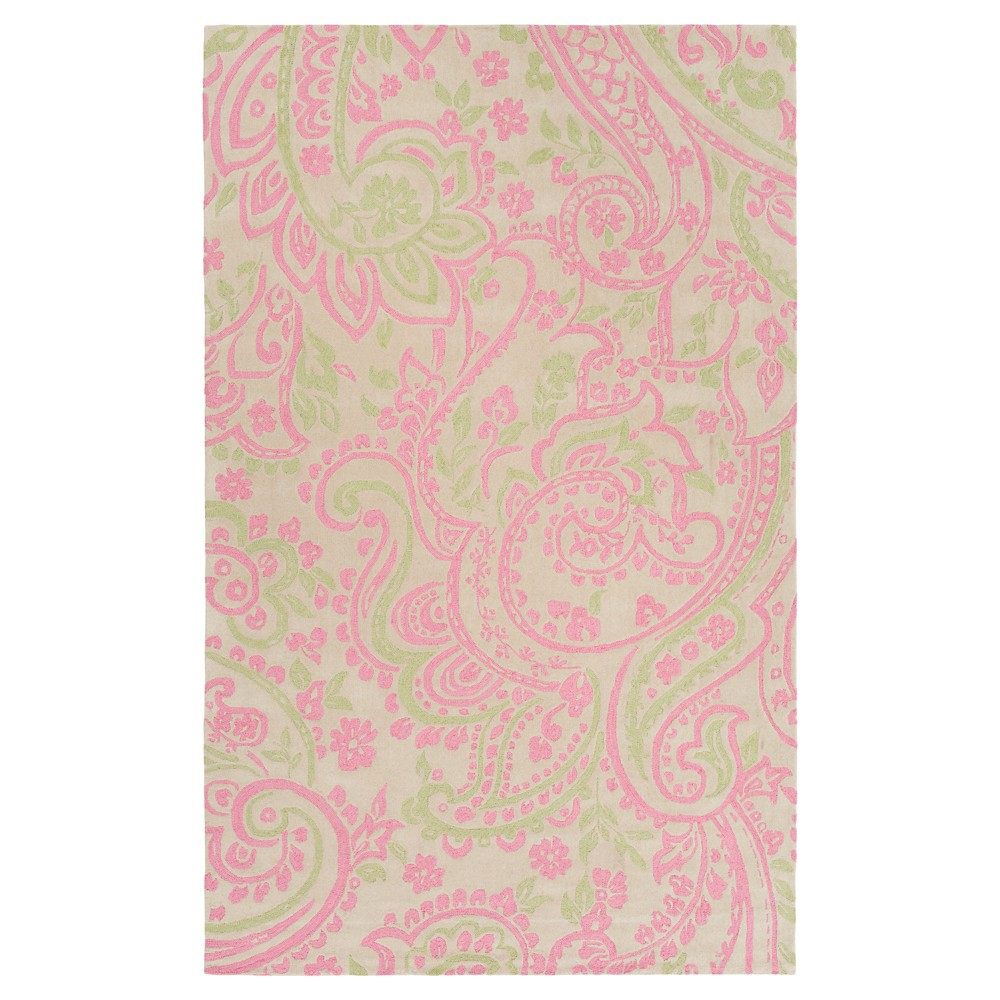 Amina Kid's Rug 3'x5' Bright Pink - Surya