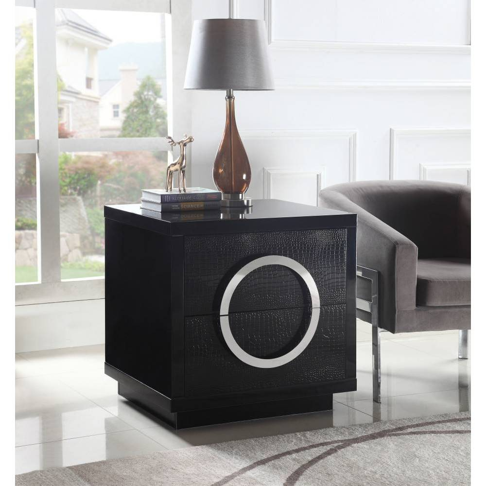Norcia Side Table Black - Chic Home Design was $639.99 now $383.99 (40.0% off)
