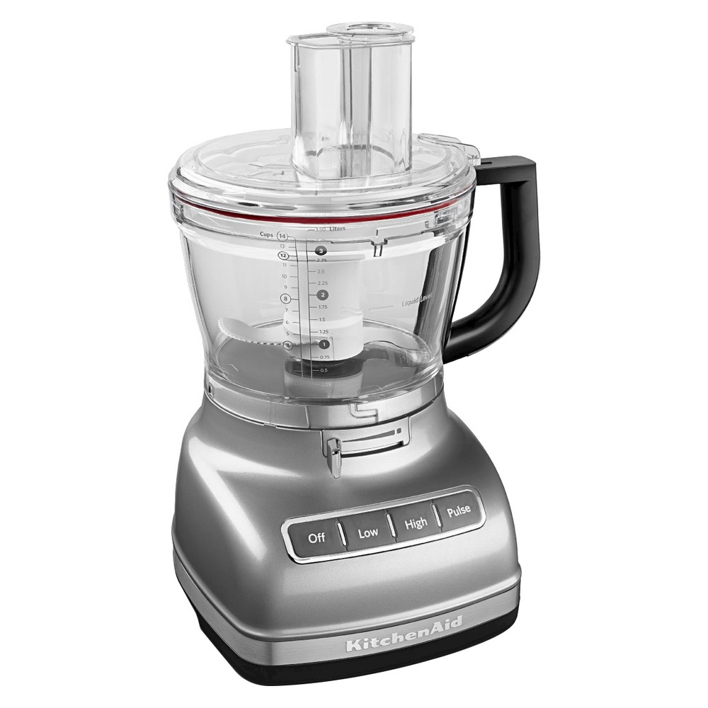 KitchenAid 14 cup Food Processor with Commercial-Style Dicing Kit - KFP1466, Contour Silver