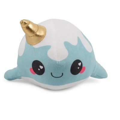 Se7en20 Glitter Galaxy 6-Inch Ice Cream Cone Horn Blue Narwhal Collectible Plush