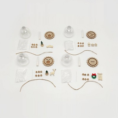 4ct Snowglobe Ornament Craft Kit - Bullseye's Playground™
