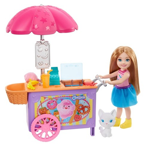 Barbie Club Chelsea Doll And Snack Cart Playset Target