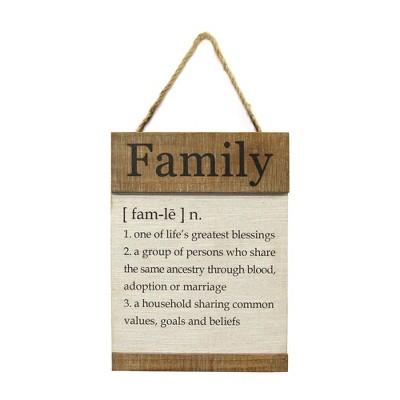Family Definition Wall Decor White - Stratton Home Decor