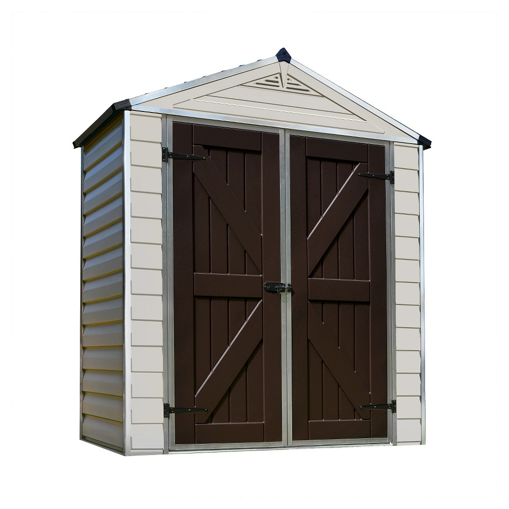 Image of 6' x 10' Skylight Storage Shed - Tan - Palram, Size: 6' x 10', Beige