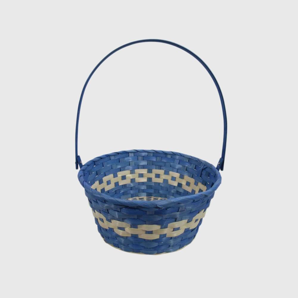 """Image of """"11"""""""" Bamboo Easter Basket Blue - Spritz"""""""
