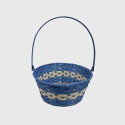 """11"""" Bamboo Easter Basket Blue - Spritz™"""