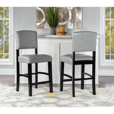 Awe Inspiring Monaco Counter Stool Gray Linon Machost Co Dining Chair Design Ideas Machostcouk