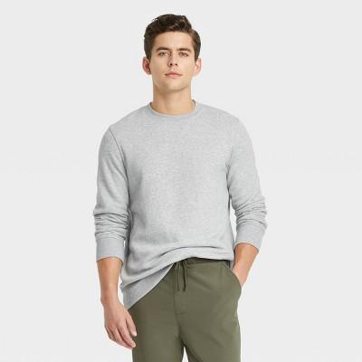 Men's Standard Fit Crewneck Sweatshirt - Goodfellow & Co™ Gray