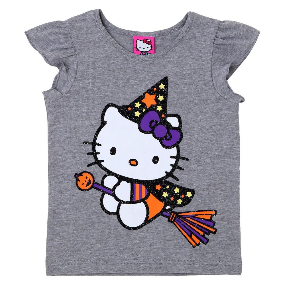 Toddler Girls' Hello Kitty T-Shirt Gray 5T, Heather Grey