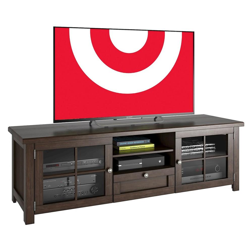 Arbutus Stained Wood Veneer TV Bench Dark Espresso (Brown) 63 - Sonax