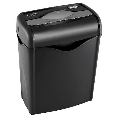 Aurora 6 Sheet Professional Paper Shredder with Wastebasket Black - AU670XA