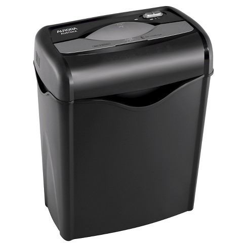 Aurora 6 Sheet Professional Paper Shredder with Wastebasket Black - AU670XA - image 1 of 4