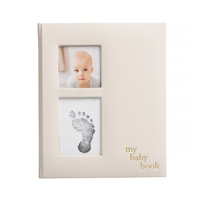 Pearhead Baby Memory Book - Gray Linen