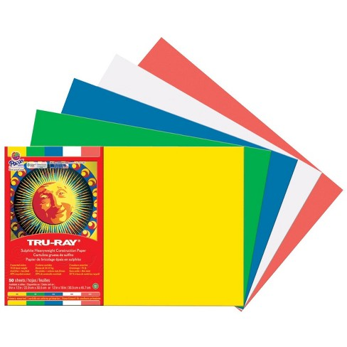 Tru-Ray Sulphite Construction Paper, 12 x 18 Inches, Primary Colors, 50 Sheets - image 1 of 1