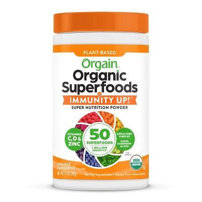 Orgain Organic Superfoods + Immunity UP! Nutrition Food - Tangerine Orange - 9.9oz