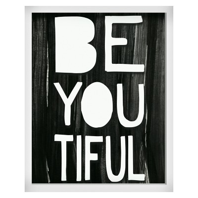 Be-you-tiful Screen Printed Glass Art - Pillowfort™