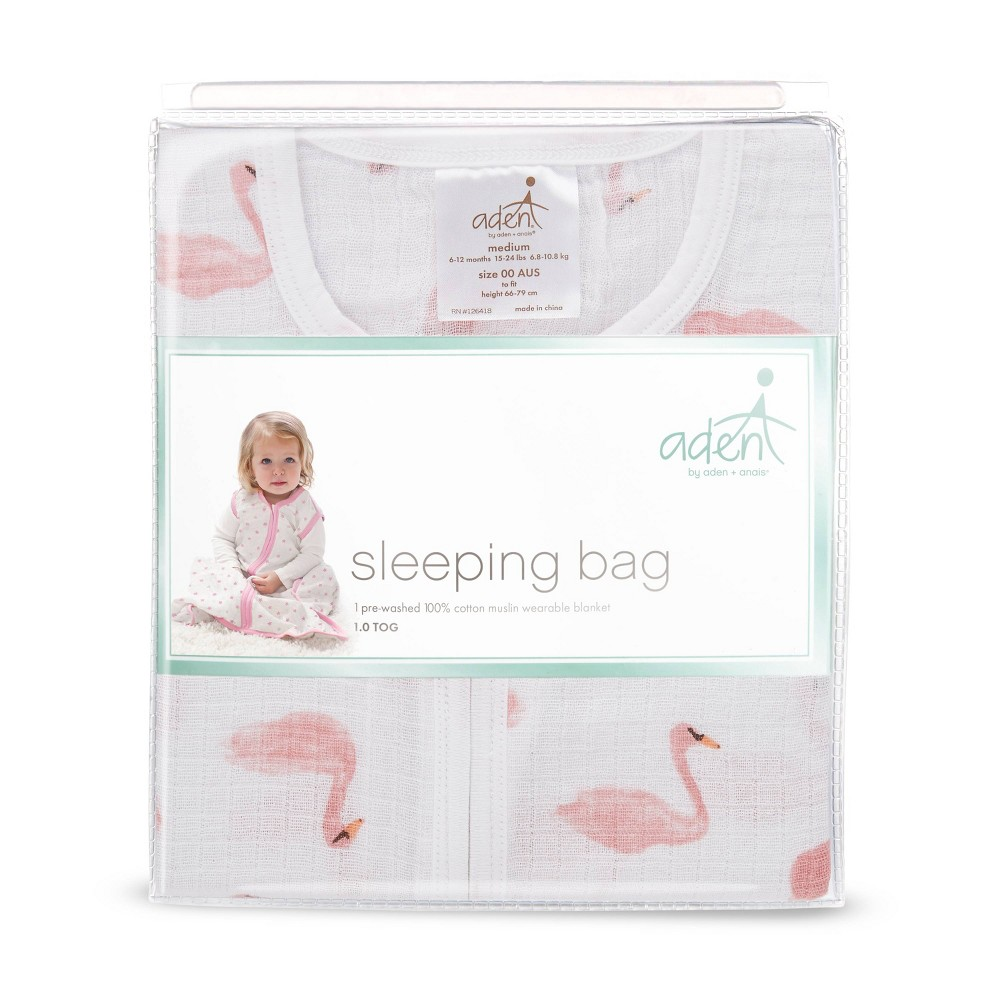 Image of aden by aden + anais Wearable Blanket - Briar Rose - Flamingo Pink, Infant Girl's, Size: Large, White