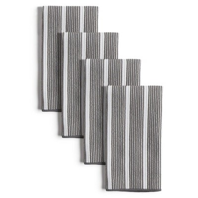 8pk Rainbow Striped Barmops Gray - Town & Country Living