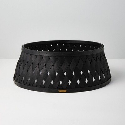 Woven Wood Holiday Tree Collar Black - Hearth & Hand™ with Magnolia