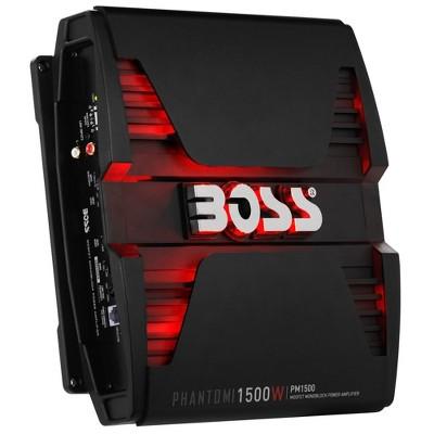BOSS Audio PM1500 Phantom Monoblock 1500 Watt 2 Ohm Stable Class D MOSFET Car Audio Sound System Speaker and Subwoofer Amplifier Amp