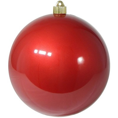 "Christmas by Krebs Shiny Candy Red Shatterproof Christmas Ball Ornament 8"" (200mm)"