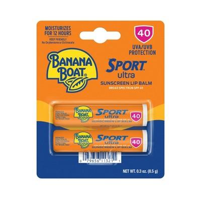 Banana Boat Lip Twin Pack Sunscreen - SPF 40 - 0.3oz