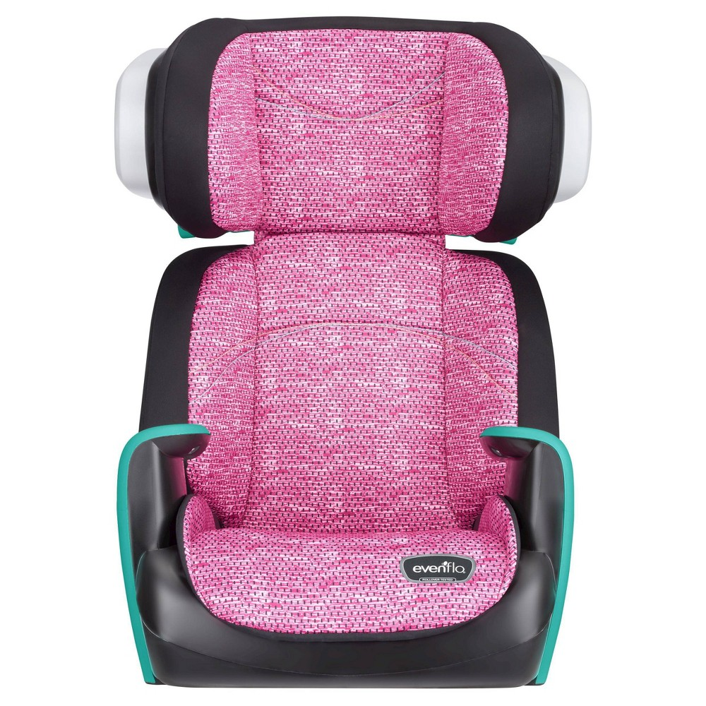 Image of Evenflo Spectrum Booster Car Seat - Fuchsia Shock, Pink Black Blue