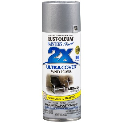 Rust-Oluem 12oz 2X Painter's Touch Ultra Cover Spray Paint Aluminum