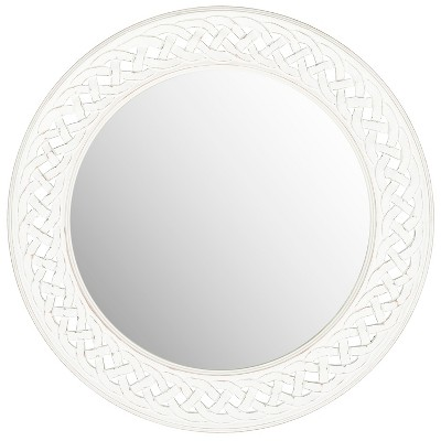Round Braided Chain Decorative Wall Mirror White - Safavieh®
