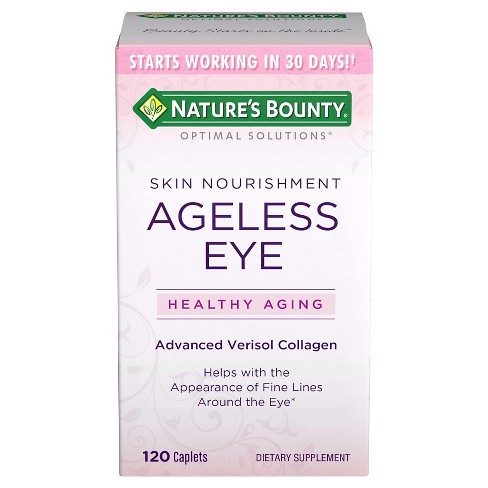 Nature's Bounty Optimal Solutions® Ageless Eye Collagen Dietary Supplement Tablets - 120ct - image 1 of 1