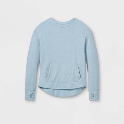Girls' Cozy Lightweight Fleece Crewneck Sweatshirt - All in Motion™