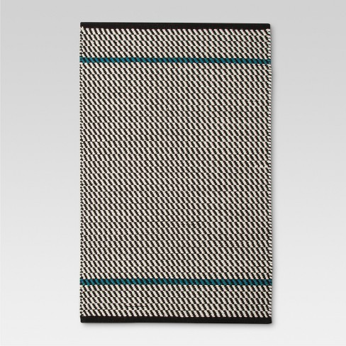 "Black Stripe Woven Accent Rug - (2'6""x4') - Threshold™ - image 1 of 2"