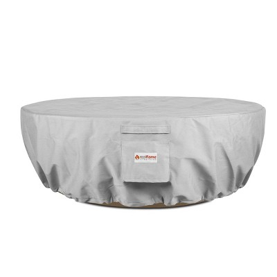 Sedona Round Fire Pit Cover Gray - Real Flame