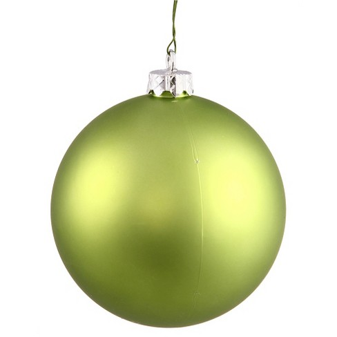 32ct Lime Matte Shatterproof Christmas Ornament Set - image 1 of 1