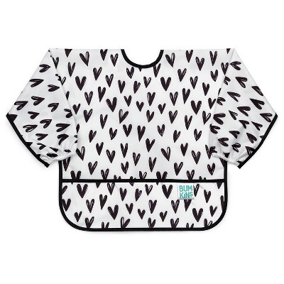 Bumkins Heart Pattern Bib - White