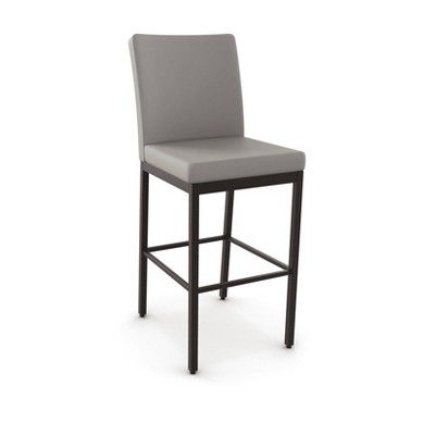 Amisco Metal Counter Height Barstool - Brown