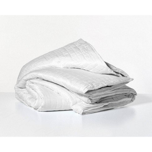 48 X 72 Cooling 15lbs Weighted Blanket With Removable Cover White Gravity Target