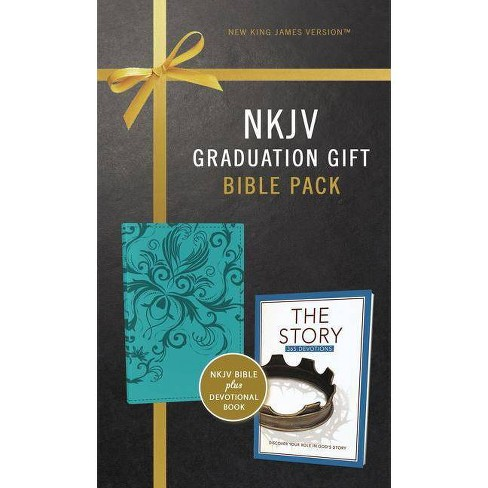 NKJV, Graduation Gift, Bible Pack for Her, Blue, Red Letter Edition - by  Zondervan - image 1 of 1