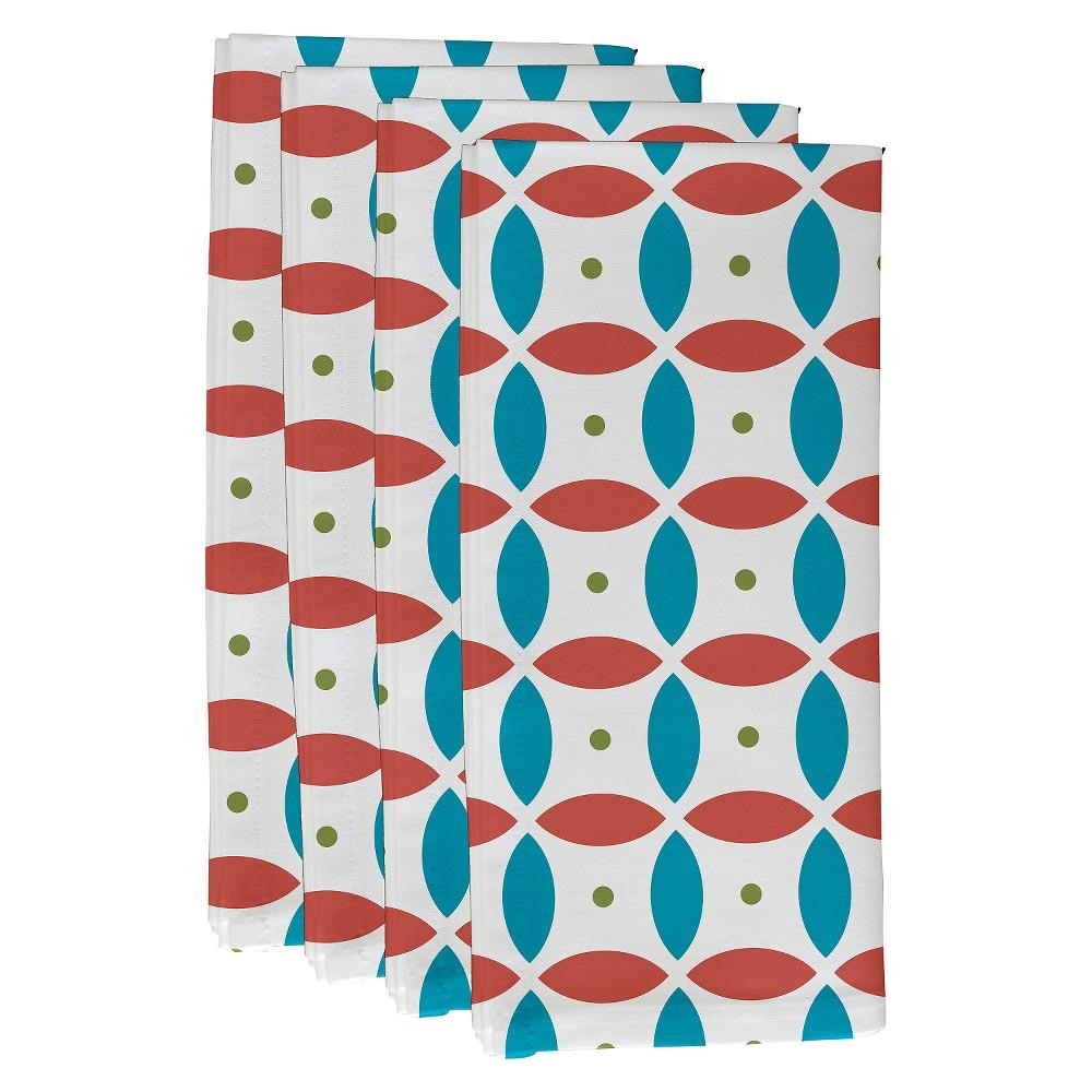 Orange Smoothie Beach Ball Geometric Print Napkin Set Seed 19 X19 E By Design