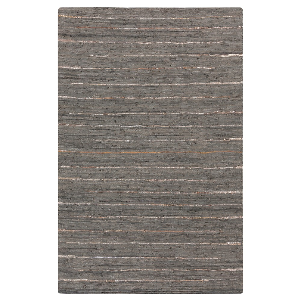 Black Solid Woven Accent Rug - (2'X3') - Surya