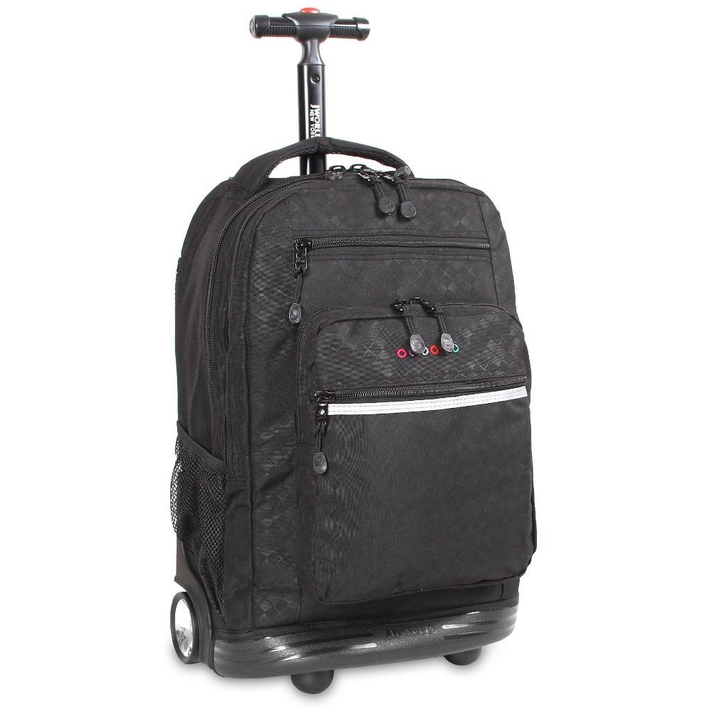 J World 20 34 Sundance Rolling Backpack With Laptop Sleeve Argyle Black