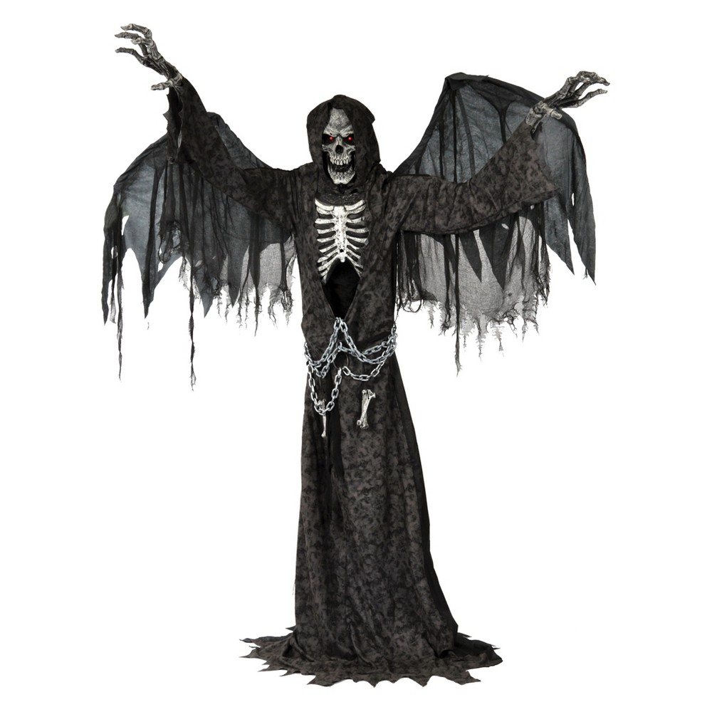 7ft Halloween Animated Life Size Angel of Death, Multi-Colored