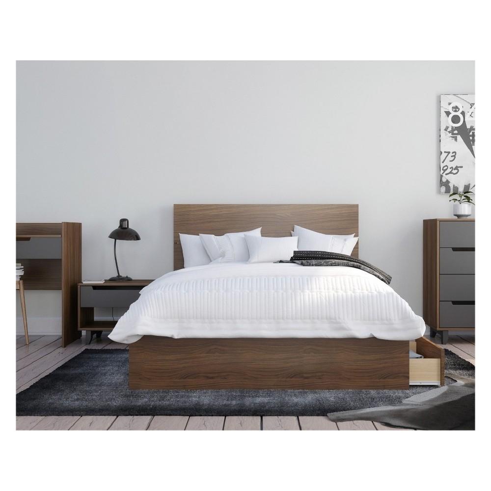 Mystic 3pc Bedroom Set Full Walnut (Brown) - Nexera