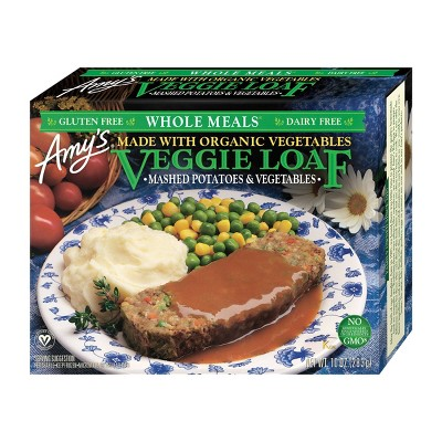 Amy's Gluten and Dairy Free Frozen Organic Veggie Loaf & Mashed Potatoes - 10oz