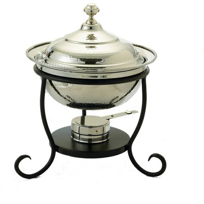 Old Dutch 3qt Stainless Steel Hammered Round Chafing Dish