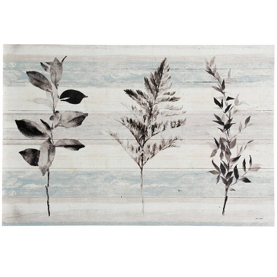 Wood Leaflet Print on Panel Wall Art - StyleCraft