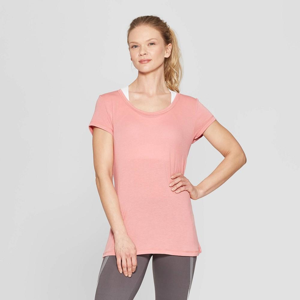 Women's Short Sleeve Draped Back T-Shirt - C9 Champion Rose Pink XS