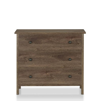 Ceclila 3 Drawer Dresser Walnut - miBasics