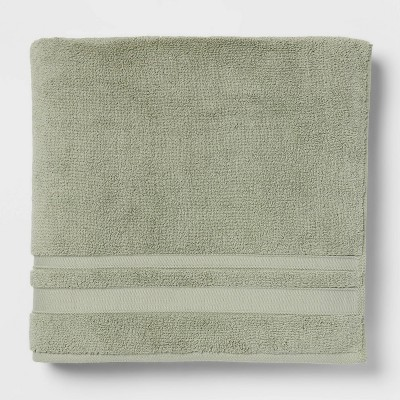 Performance Bath Towel Dark Sage Green - Threshold™